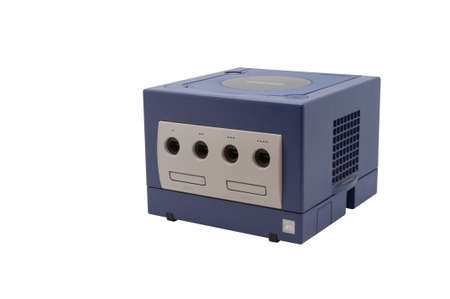 nintendo: ADELAIDE, AUSTRALIA - October 17, 2014: A studio shot of a Nintendo Gamecube console. A popular game console sold by nintendo worldwide during the early 2000s.