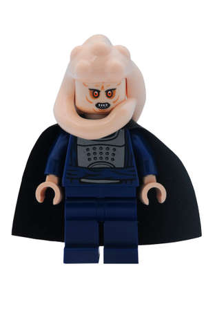 fortuna: ADELAIDE, AUSTRALIA - January 09 2015:A studio shot of an Bib Fortuna Lego minifigure from the Star Wars Movie Series. Lego is extremely popular worldwide with children and collectors.