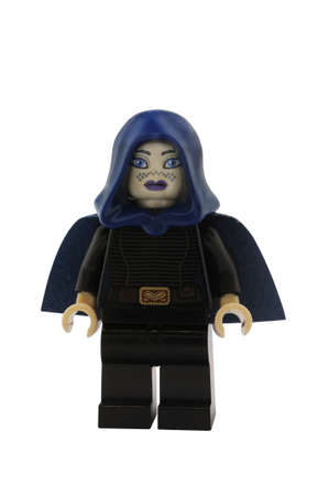 clones: ADELAIDE, AUSTRALIA - January 09 2015:A studio shot of an Barris Offee Lego minifigure from the Star Wars Movie Series. Lego is extremely popular worldwide with children and collectors.