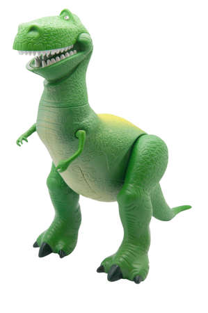 disney: ADELAIDE, AUSTRALIA - February 25 2013:A studio shot of a Rex toy from the popular childrens Disney Toy Story movie series. Editorial