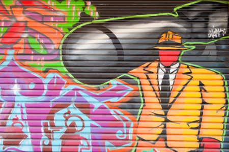 councils: ADELAIDE, AUSTRALIA - 5 gennaio 2015: Street art dall'artista identificato. Adelaide consigli locali riconosce l'importanza dell'arte di strada nella creazione di una citt� vibrante.