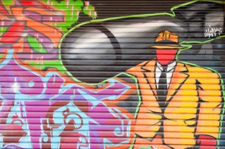 councils: ADELAIDE, AUSTRALIA - January 05 2015: Street art by unidentified artist. Adelaide local councils recognises the importance of street art in creating a vibrant city.