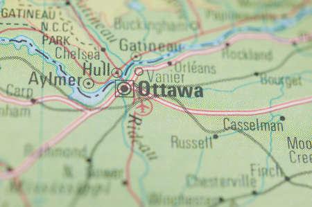 ottawa: The city of Ottawa on a map