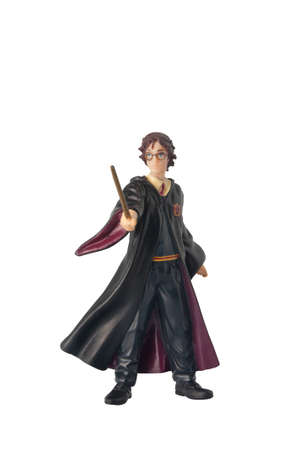 harry: ADELAIDE, AUSTRALIA - February 25 2015:A studio shot of a Harry Potter Figurine from the popular novel and movie series.