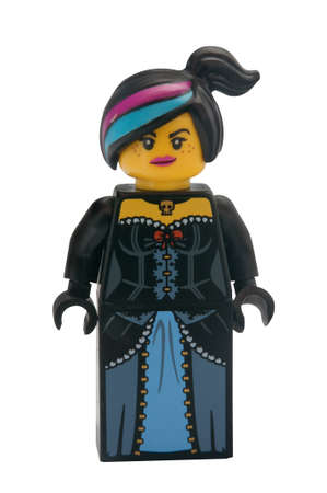 lego: ADELAIDE, AUSTRALIA - January 30 2015:A studio shot of a Wyldstyle Lego minifigure from the Lego Movie. Lego is extremely popular worldwide with children and collectors. Editorial