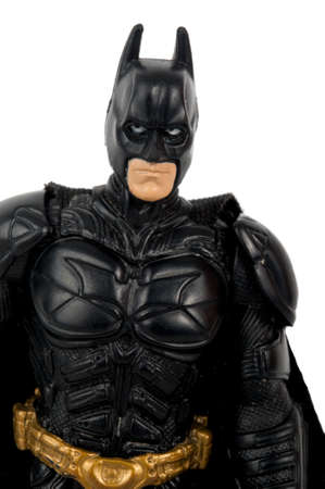 batman: Adelaide, Australia - June 08 2015:An isolated image of a Dark Knight or Batman Action Figure. Batman is one of DC Comics most popular superheros, spawning many movies, TV series and collectables.