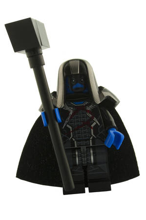 accuser: ADELAIDE, AUSTRALIA - December 11 2014:A studio shot of a Ronan The Accuser Lego minifigure from the Guardians of the Galaxy. Lego is extremely popular worldwide with children and collectors.