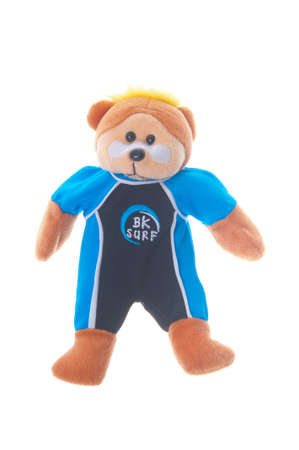 beanie: Adelaide, Australia - June 29,2015: A studio shot of Rip the Beanie Kid. A very popular collectable teddy bear series distributed in Australia by Skansen Giftware.