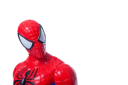 spiderman: Adelaide, Australia - June 29, 2015: A studio photo of a Spiderman Action Figure from the Marvel Spiderman universe. Items of characters from the Marvel Studios universe are highly sough after collecatables. Editorial