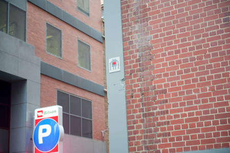 invader: Melbourne, Australia - August 29, 2014: A Space invader symbol on the side of a building in Melbourne. Placed by an unknown artist only known as The Invader the symbols are strategically placed in urban cities and when locatins are marked on a map they