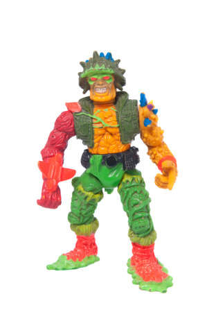 crusaders: Adelaide, Australia - May 22, 2015: A photo of a Major Disaster action figure from the animated series Toxic Crusaders. Based on the Toxic Avenger movies the series aired on television  in the 1990s. Merchandise from this area are highly sought after col Editorial