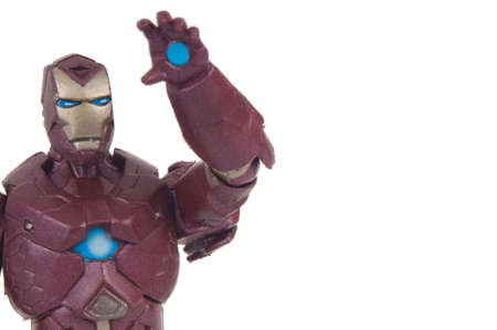 studio photograph: Adelaide, Australia - June 8, 2015: A studio photograph of an Iron Man Action Figure from the Marvel Comics Universe. Marvel toys are highly sought after collectables. Editorial