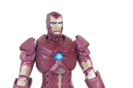 marvel: Adelaide, Australia - June 8, 2015: A studio photograph of an Iron Man Action Figure from the Marvel Comics Universe. Marvel toys are highly sought after collectables. Editorial