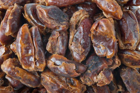 pitted: A macro or closeup of pitted dates