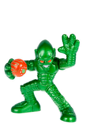 spiderman: Adelaide, Australia - October 12, 2015: A studio shot of a Green Goblin figurine from the Marvel Spiderman movie and comics. Merchandise from the marvel universe are highly sought after collectables. Editorial