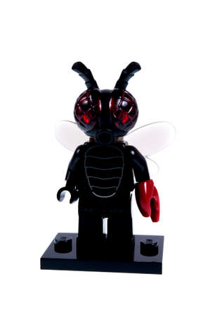 collectable: Adelaide, Australia - September 28, 2015:An isolated shot of a Fly Monster Lego Minifigure from Series 14 of the collectable lego minifigure toys. Lego is very popular with children and collectors worldwide. Editorial
