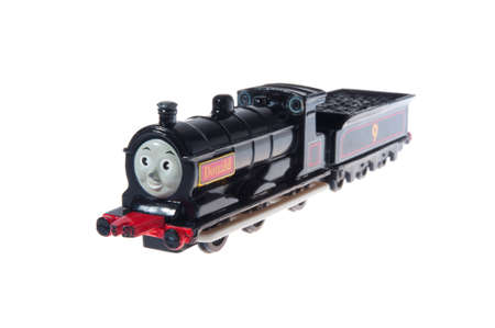 donald: Adelaide, Australia - July 02, 2015: A Studio shot of Donald from Thomas the Tank Engine, a toy from the popular childrens TV series. The series has won awards worldwide.