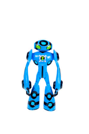 animated action: Adelaide, Australia - September 28 2015:A studio shot of a Ultimate Echo Echo action figure from the Animated Series Ben 10.Ben 10 is extremely popular worldwide with children.