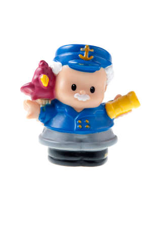 Adelaide, Australia - July 09 2015: A studio shot of a Fisher Price Little People Sea Captain. A popular developmental toy for young children.