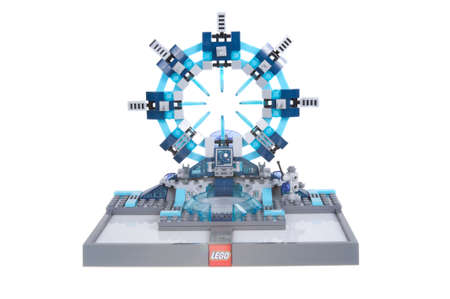 dimensions: Adelaide, Australia - November 17, 2015: A studio shot of the Lego Dimensions Portal from the Lego Dimensions Video Game.Lego is extremely popular worldwide with children and collectors.