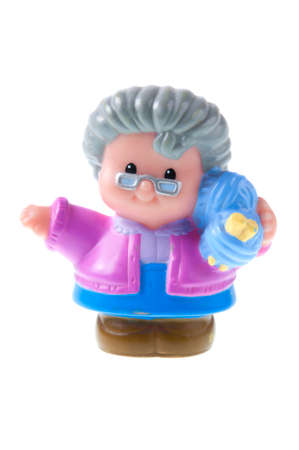 Adelaide, Australia - July 09 2015: A studio shot of a Fisher Price Little People Grand Mother. A popular developmental toy for young children. Editoriali