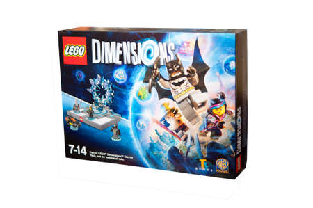 Adelaide, Australia - November 16, 2015: A studio shot of the Lego Dimensions Video Game.Lego is extremely popular worldwide with children and collectors.