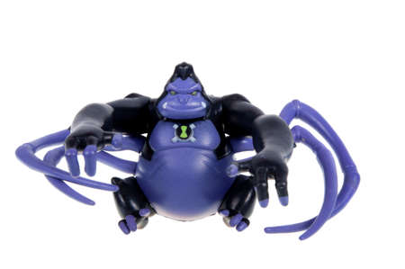 ultimate: Adelaide, Australia - November 22, 2015:A studio shot of a Ultimate Spidermonkey action figure from the Animated Series Ben 10.Ben 10 is extremely popular worldwide with children.