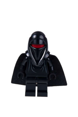 stormtrooper: Adelaide, Australia - September 10, 2015: A studio shot of a Shadow Guard Lego minifigure from the Star Wars movie series. Lego is popular with children and collectors worldwide.
