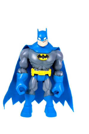 batman: Adelaide, Australia - September 07, 2015: An isolated image of a Dark Knight or Batman Action Figure. Batman is one of DC Comics most popular superheros, spawning many movies, TV series and collectables. Editorial