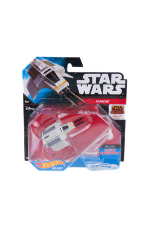 phantom: Adelaide, Australia - December 20, 2015: An unopened Hot Wheels Star Wars Phantom Diecast Vehicle. Merchandise from the Star Wars universe are highly sought after collectables.