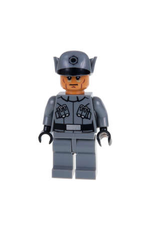 star path: Adelaide, Australia - December 25, 2015: A studio shot of a First Order Officer Force Awakens minifigure from the Star Wars Force Awakens Movie. Lego is extremely popular worldwide with children and collectors. Editorial