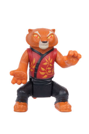 tigress: Adelaide, Australia - June 19 2015:A studio shot of a Master Tigress Kung Fu Panda 2008 Happy Meal Toy from the animated movie Kung Fu Panda. Distributed with Mcdonalds Happy Meals in 2008 to promote the animated movie.