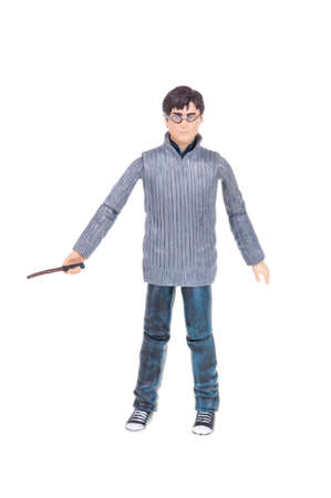 harry: Adelaide, Australia - December 25, 2015: A studio shot of a Harry Potter Action Figure from the popular novel and movie series. A collectable item sold worldwide. Editorial