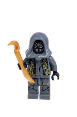 thug: Adelaide, Australia - January 15, 2016: A studio shot of a Unkars Thug Force Awakens minifigure from the Star Wars Force Awakens Movie. Lego is extremely popular worldwide with children and collectors.