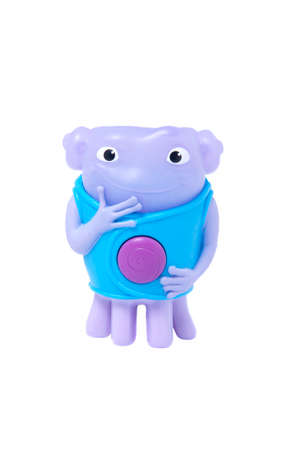 oh: Adelaide, Australia - May 22, 2015:A studio shot of a McDonalds Happy Meal Oh Toy from the movie home. Distributed with Mcdonalds Happy Meals to promote the animated Dreamworks movie.