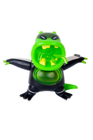 animated alien: Adelaide, Australia - June 14, 2015:A studio shot of a Upchuck action figure from the Animated Series Ben 10.Ben 10 is extremely popular worldwide with children. Editorial