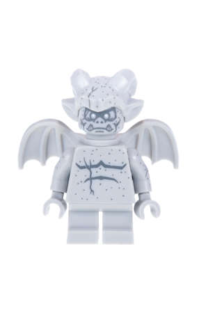 gargouille: Adelaide, Australia - October 26, 2015:An isolated shot of a Gargoyle Lego Minifigure from Series 14 of the collectable lego minifigure toys. Lego is very popular with children and collectors worldwide.