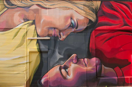 adelaide: ADELAIDE, AUSTRALIA - November 27, 2015: Street art by unidentified artist in Port Adelaide. Adelaide city council recognises the importance of street art in creating a vibrant city.