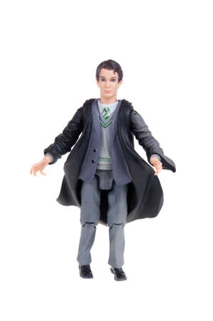 collectable: Adelaide, Australia - January 15, 2016: A studio shot of a Tom Riddle Action Figure from the popular Harry Potter novel and movie series. A collectable item sold worldwide.