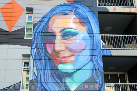 adelaide: ADELAIDE, AUSTRALIA - September 26, 2015: Street art by unidentified artist in the Adelaide CBD. Adelaide city council recognises the importance of street art in creating a vibrant city.