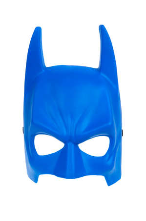 the mask: Adelaide, Australia - January 15, 2016: An isolated image of a Batman mask. Batman is one of DC Comics most popular superheros, spawning many movies, TV series and collectables.