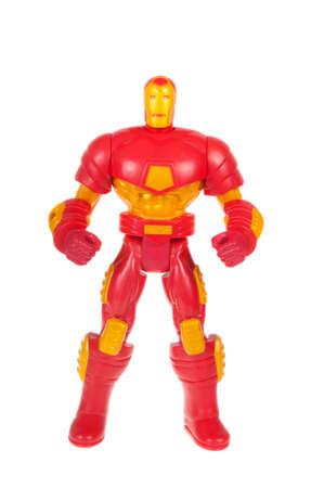 Adelaide, Australien - 13. November 2015: Eine isolierte Schuss eine Figur Iron Man Aktion aus dem Marvel-Universum. Waren von Marvel Comics und Filme sind highy nach Sammlerstücken gesucht. Editorial