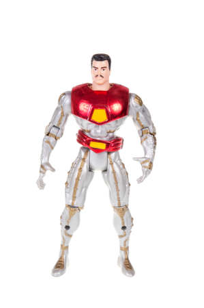 sought: Adelaide, Australia - November 13, 2015:An isolated shot of a Iron Man action figure from the Marvel universe. Merchandise from Marvel comics and movies are highy sought after collectables. Editorial