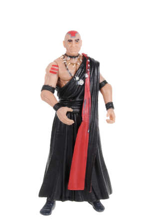 marvel: Adelaide, Australia - February 09, 2016: A studio shot of a Mola Ram action figure from the popular movie series. Merchandise from Marvel comics and movies are highy sought after collectables.