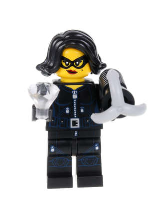 burgler: Adelaide, Australia - February 14, 2016:An isolated shot of a Jewel Thief Lego Minifigure from Series 15 of the collectable lego minifigure toys. Lego is very popular with children and collectors worldwide. Editorial