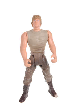 Luke: Adelaide, Australia - February 09, 2016:An isolated shot of a Luke Skywalker action figure from the Star Wars universe.Merchandise from the Star Wars movies are highy sought after collectables.