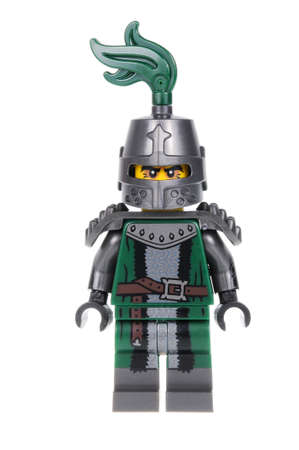 collectable: Adelaide, Australia - February 19, 2016:An isolated shot of a Frightening Knight Lego Minifigure from Series 15 of the collectable lego minifigure toys. Lego is very popular with children and collectors worldwide. Editorial