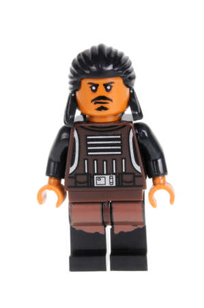sanguijuela: Adelaide, Australia - February 09, 2016: A studio shot of a Tasu Leech Force Awakens minifigure from the Star Wars Force Awakens Movie. Lego is extremely popular worldwide with children and collectors.