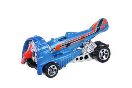 sought: Adelaide, Australia - March 25, 2016:An isolated shot of a 1996 Dog Fighter Hot Wheels Diecast Toy Car. Hot Wheels cars made by Mattel are highly sought after collectables. Editorial
