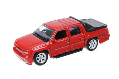 welly: Adelaide, Australia - March 25, 2016:An isolated shot of a Chevrolet Avalanche Welly Diecast Toy Car. Replica diecast toy cars are highly sought after collectables